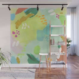 Bright Paints + Gold Wall Mural
