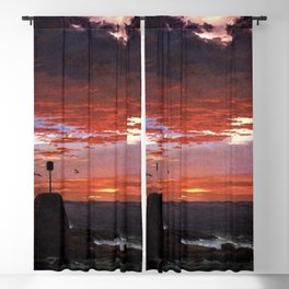 Beacon off Mount Desert Island, Maine by Frederic Edwin Church Blackout Curtain