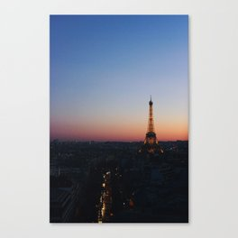 Eiffel Tower By Sunset Canvas Print