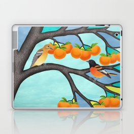B. orioles in the stained glass tree Laptop & iPad Skin