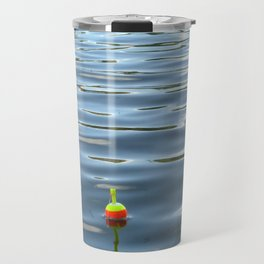 Fishing Bobber in Water Color Photograph Travel Mug