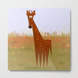 Giraffe on the savannahs Metal Print