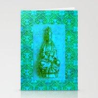 budi satria kwan Stationery Cards featuring Jade Kwan Yin by Jan4insight
