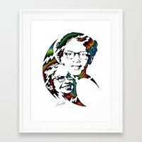 parks Framed Art Prints featuring Rosa Parks by A Laidig