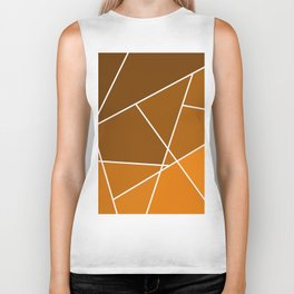 Brown Line Pattern Biker Tank