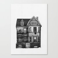 detroit Canvas Prints featuring DETROIT  by CALLY