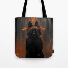 Crowned Wolf Tote Bag