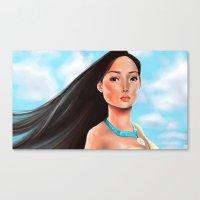 pocahontas Canvas Prints featuring Pocahontas by Sam Pea