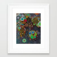 circles Framed Art Prints featuring Circles by Olivia Joy St.Claire - Modern Nature / T