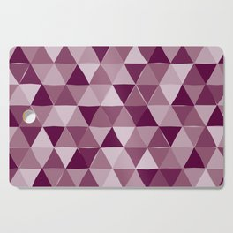 Purple Triangles Cutting Board