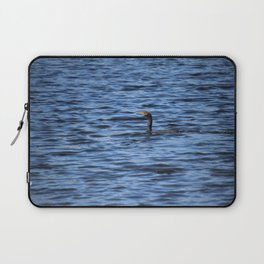 Cormorant Floats In The Blue Water Laptop Sleeve