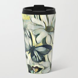 Spring Delight - Flowers And Butterflies Metal Travel Mug