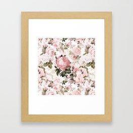 Vintage & Shabby Chic - Sepia Pink Roses Framed Art Print
