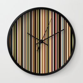 Old Skool Stripes - The Dark Side Wall Clock