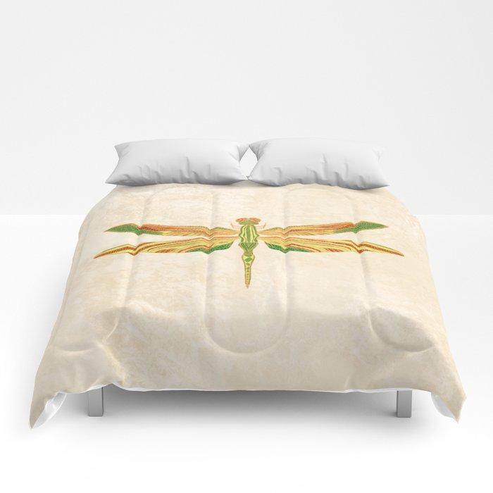 Antique Art Nouveau Dragonfly Comforters