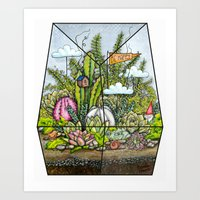 Happy Terrarium Art Print