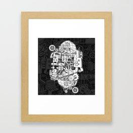 Hungry Gears Framed Art Print