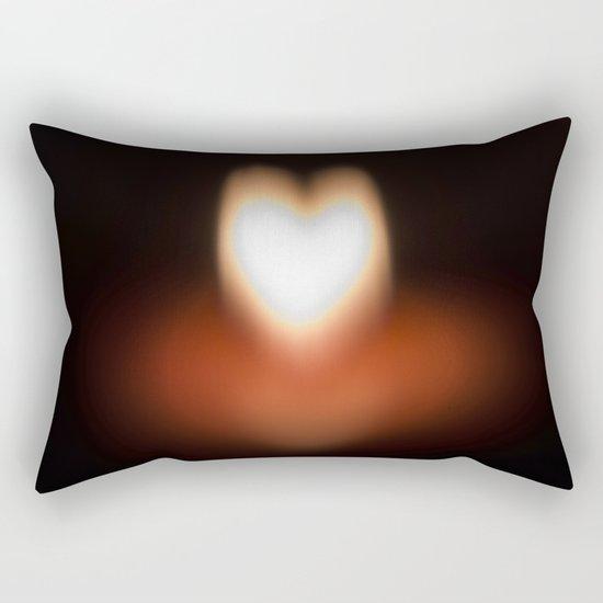 Camera blur flame heart Rectangular Pillow