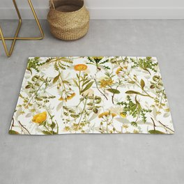 Vintage & Shabby Chic - Yellow Wildflowers Rug