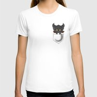 warcraft T-shirts featuring Dragon Pocket Tee by SlothgirlArt