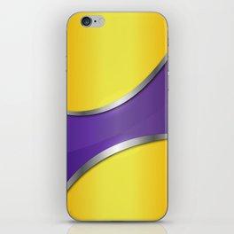 Metallic violet pattern 180415 iPhone Skin