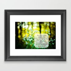 The Hunger Games Rue's Lullaby  Framed Art Print