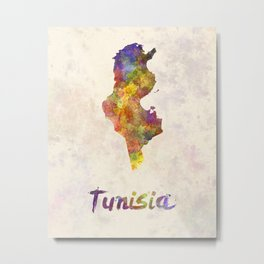 Tunisia in watercolor Metal Print