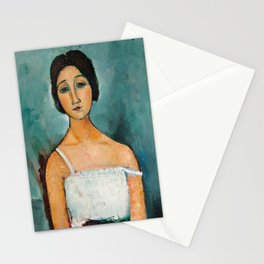 Egon Schiele Houses With Laundry Stationery Cards