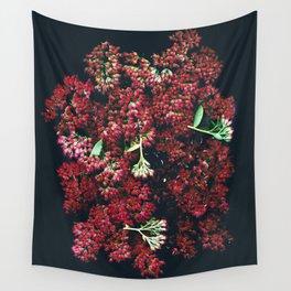 Burgundy Sedum Flowers Wall Tapestry
