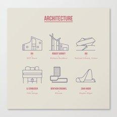 Architecture Line Design Canvas Print