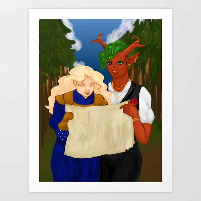 Happy Birthday To My Best Friend Dnd Is Gay Af Art Print By