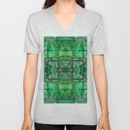 88 - green recycling bottles abstract Unisex V-Neck