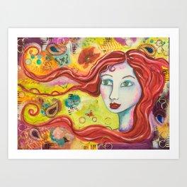 Brigid - Gold Lotus Oracle Series Art Print