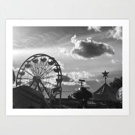 Nelly Blie amusement park, Brooklyn NY Art Print