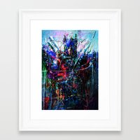 optimus prime Framed Art Prints featuring OPTIMUS PRIME by Raditya Giga