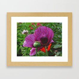 DeepDream Flowers, Poppies Framed Art Print