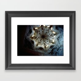 Looking Up Hall of the Abencerrajes, Alhambra Framed Art Print