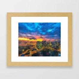 City Sunrise Framed Art Print