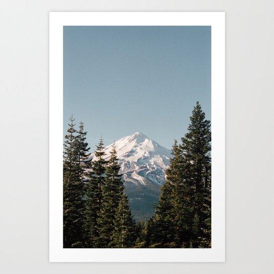 Mt Shasta Morning Art Print