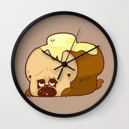 Pug Bread and Mr. Butter Wall Clock