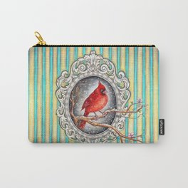 RED CARDINAL in FRAME Carry-All Pouch