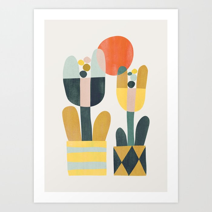 Two flowers Art Print