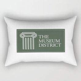 Museum District logo Rectangular Pillow