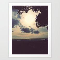Overcast Bay  Art Print
