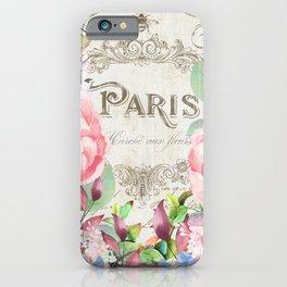 Paris Flower Market III iPhone Case