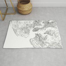Charleston White Map Rug
