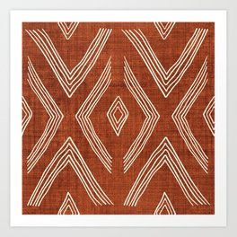 Birch in Rust Art Print