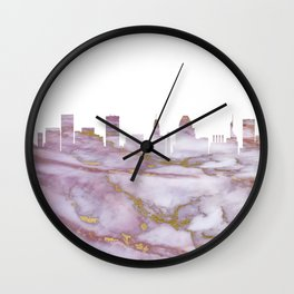 Baltimore Maryland Skyline Wall Clock