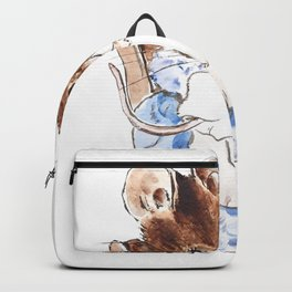Mrs Mouse and baby Peter Rabbit  Beatrix Potter Backpack