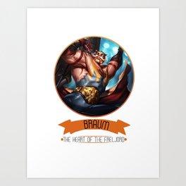 League Of Legends - Braum Art Print